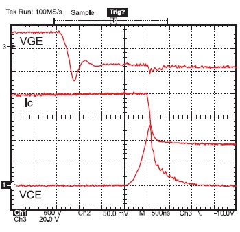 Диаграмма выключения PP3 1700 В/1000 А