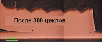 Сечение ультразвукового соединения после 300 термоциклов (-40...+150°С)