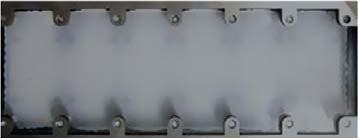 Распределение теплопроводящей пасты после затяжки винтов модуля