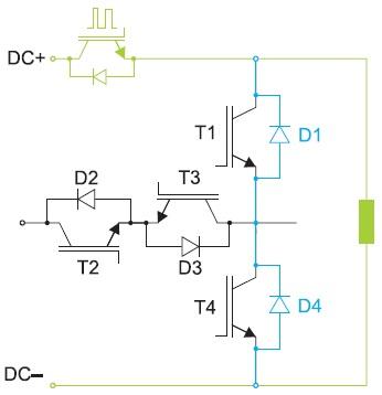 Схема анализа режимов 2L коммутации схемы TNPC