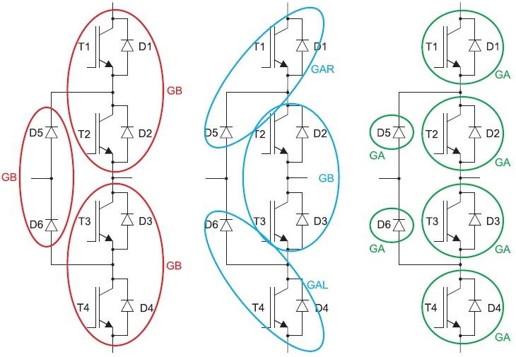 Построение 3L инвертора наоснове стандартных 2L модулей