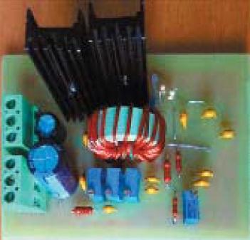 Общий вид экспериментального образца преобразователя с синхронным переключателем