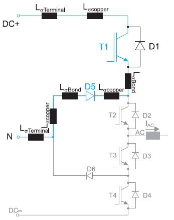 Схема NPC: типовые распределенные индуктивности