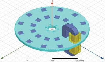 Трехмерная конструкция ММКМП с одним электромагнитным модулем