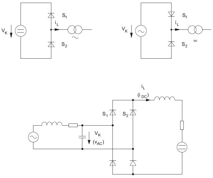 Схема с NS-коммутацией