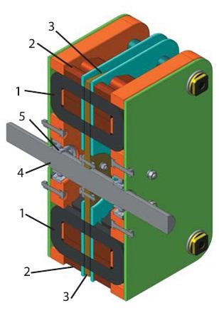 Конструкция модульной машины с коммутацией магнитного потока