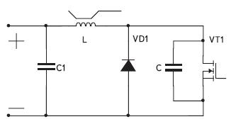 Схема одноключевого инвертора напряжения с параллельной компенсацией реактивности индуктора для бытовых применений