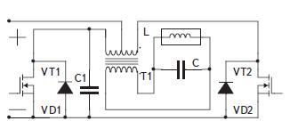 Нулевая схема инвертора напряжения с параллельной компенсацией реактивности индуктора
