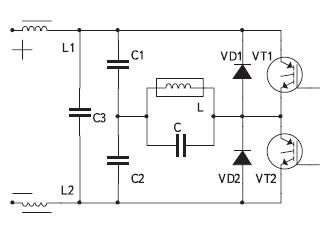 Полумостовая схема инвертора напряжения с параллельной компенсацией реактивности индуктора