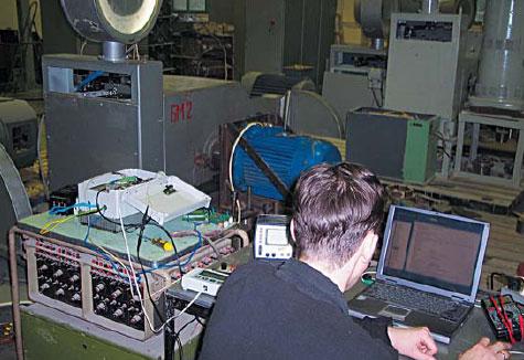 Испытания бездатчикового синхронного электропривода в испытательном центре ОАО «НИПТИЭМ»