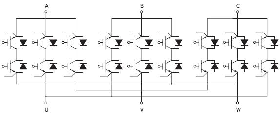 Схема IGBT-модуля матричного конвертора FM35R12KE3 (EUPEC)