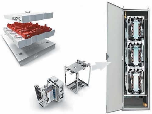 Модуль SKiiP 3, SKiiPRACK — фазовый блок и базовый конструктив силового модуля 4-квадрантного преобразователя