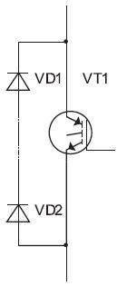 Схема вентильной ячейки совстречно-параллельными диодами