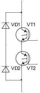 Схема вентильной ячейки совстречными диодами