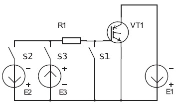 Электрическая схема дляизмерений характеристик транзисторов