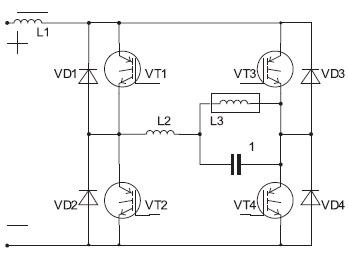 Классическая схема инвертора тока с резонансной коммутацией