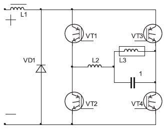 Схема инвертора тока с резонансной коммутацией