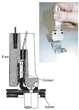 подробности монтажа и ножевой контакт