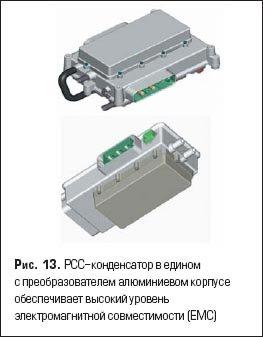 PCC-конденсатор в едином с преобразователем алюминиевом корпусе обеспечивает высокий уровень электромагнитной совместимости (EMC)
