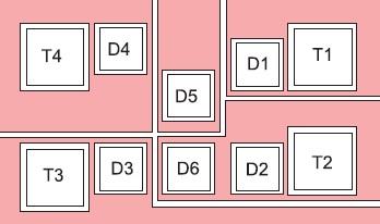 Размещение керамических DBC-плат модуля с кристаллами
