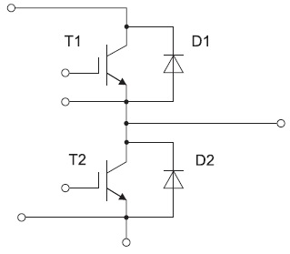Полумостовая схема с выводом средней точки