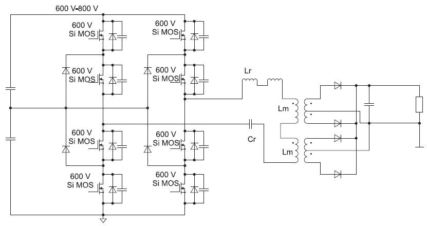 Трехуровневый(TL) DC/DC-конвертер набазе 600-ВSi MOSFET-транзисторов