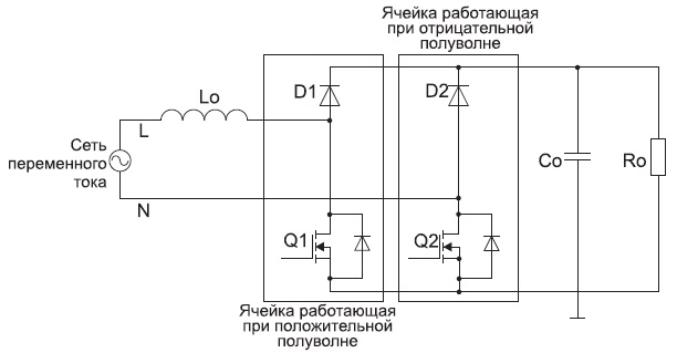 Упрощенная схема безмостового ККМ