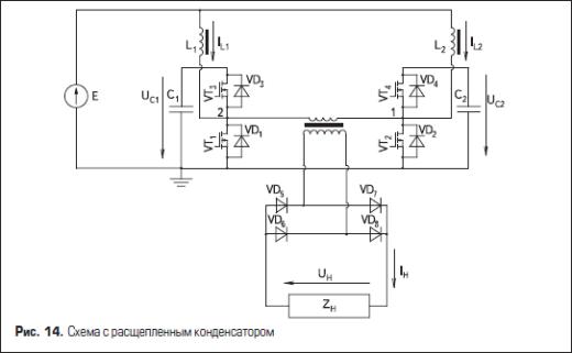 Схема с расщепленным конденсатором