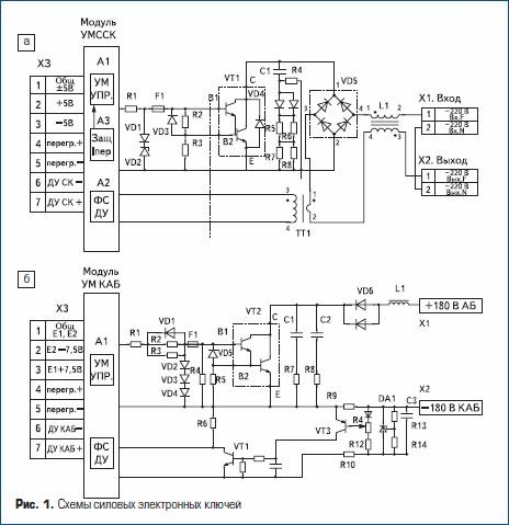 Схемы силовых электронных ключей