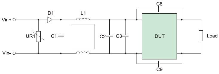Полная схема входного фильтра DC/DC-преобразователей