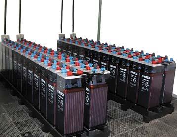 Фрагмент подстанционной батареи наноминальное напряжение