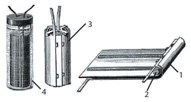 Первый свинцово-кислотный аккумулятор, изготовленный Гастоном Планте