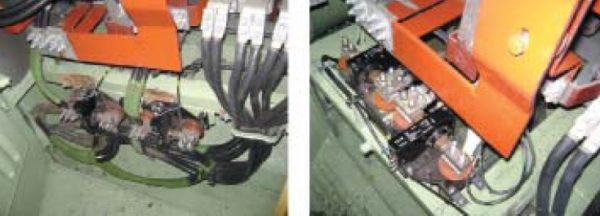 Установленные датчики тока LT1000 в цепи обмотки якоря ТЭД
