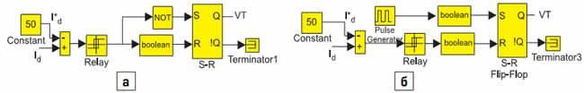 Модели схем управления импульсным инверсным повышающим регулятором