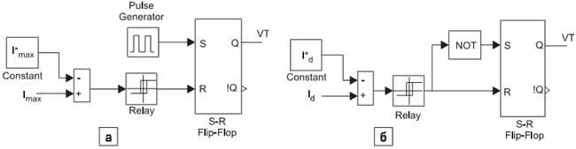 Блок схемы управления импульсным инверсным повышающим регулятором