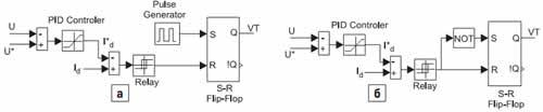 Блок схемы управления импульсным инверсным повышающим стабилизатором напряжения