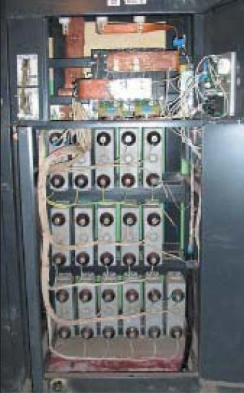 Вид намонтаж шкафа ячейки компенсатора