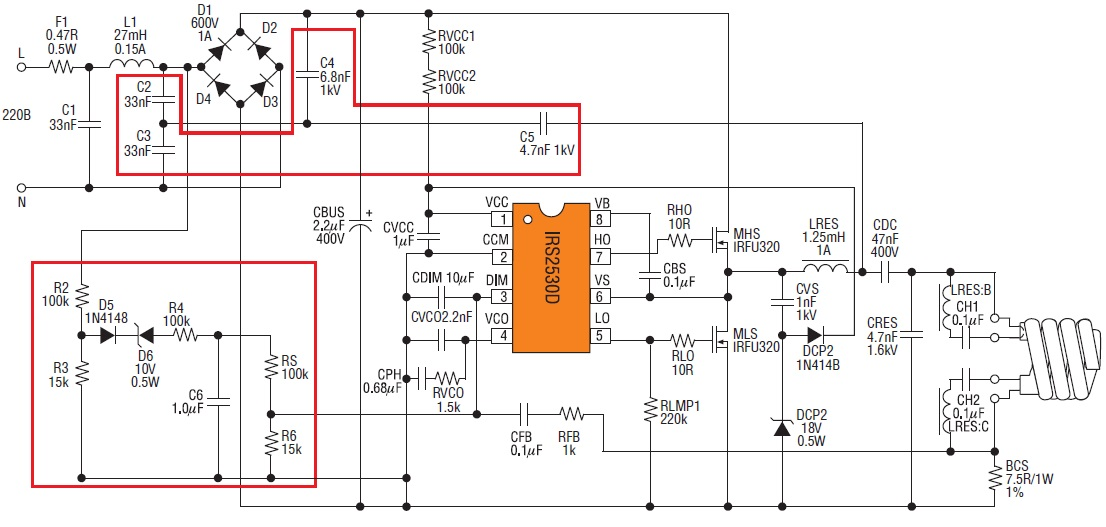 Схема включения ИСIRS2530D