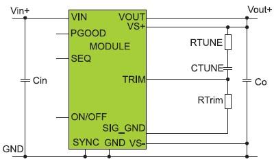 Типовая схема включения модуля UVT020