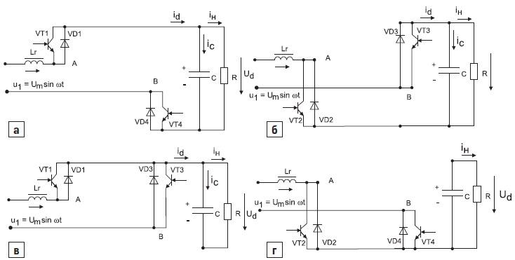 Структуры полупроводникового коммутатора с симметричным управлением