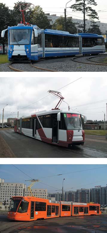 Внешний вид современного трамвая