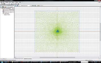 Общий вид расчетной модели при прокладке вгрунте треугольником