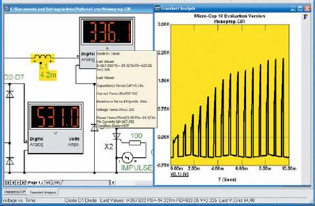 Временная диаграмма напряжения на дросселе постоянного тока автономного инвертора с закрытым входом