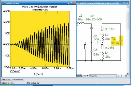 Напряжение на конденсаторе, присоединенном к индуктору для компенсации реактивной мощности нагрузки автономного инвертора