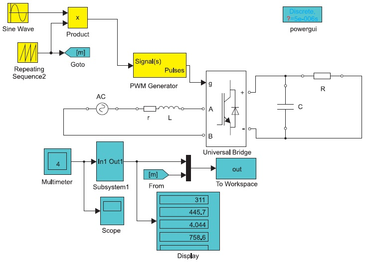 Виртуальная лабораторная установка дляисследования АВ_1 снезависимым алгоритмом управления
