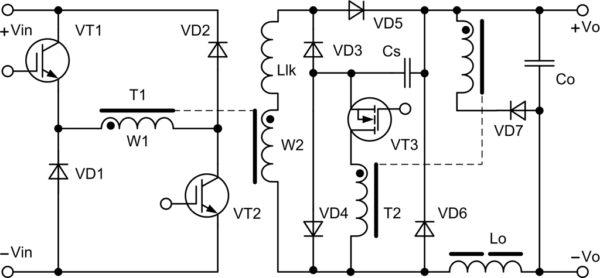 Схема ОПМК с фиксирующей цепью на вторичной стороне силового трансформатора