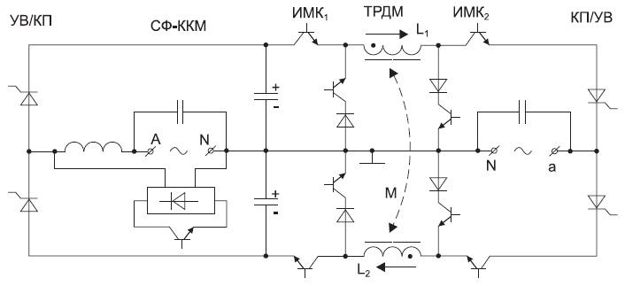 Схема одного межфазного канала