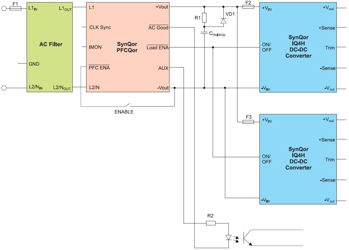 Типовая схема включения PFCQor