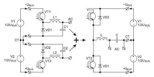 Построение полумостового DC/AC-преобразователя