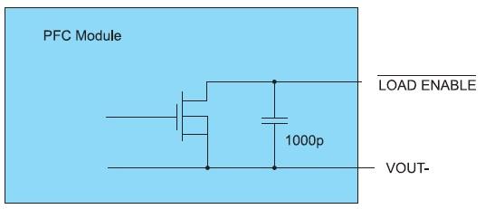 Электрическая схема выходного каскада LOAD ENABLE